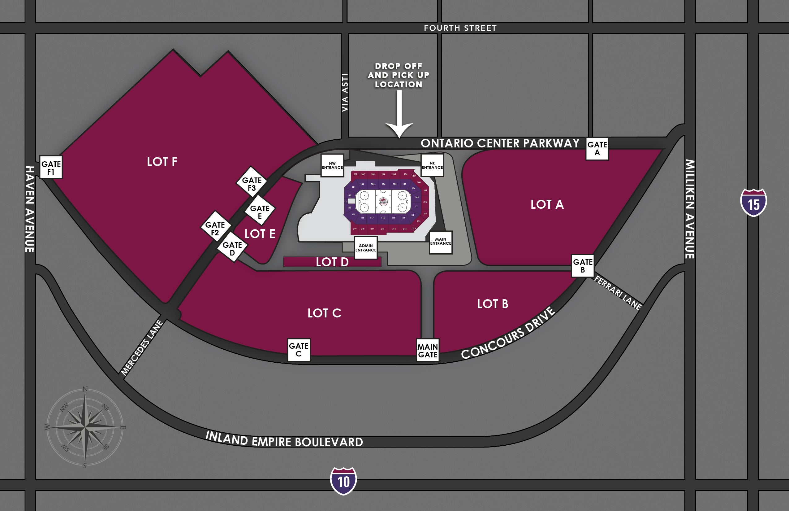 arena shuttle rideshare map jpg