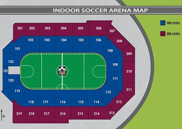INDOOR SOCCER SEATING CHART
