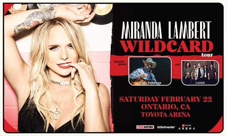 Miranda Lambert Tour 2020.Miranda Lambert Toyota Arena