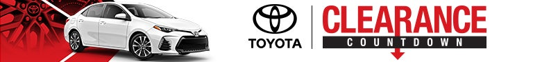 TOYOTA-CLEARANCE