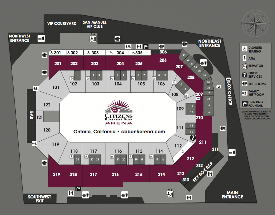 Seating charts citizens business bank arena